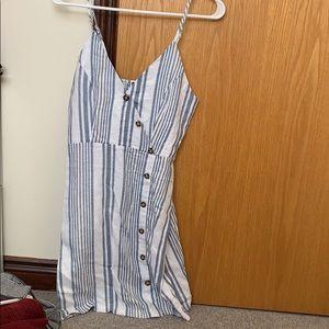 blue and white pin strip dress!